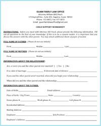 Printables Child Support Worksheet child support on guam worksheets family law office worksheet