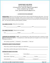 custody on guam worksheets guam family law office. Black Bedroom Furniture Sets. Home Design Ideas