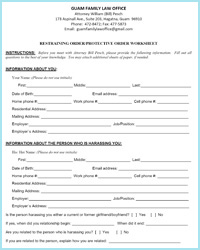 Printables Divorce Worksheet restraining and protective orders worksheets guam family law office order worksheet